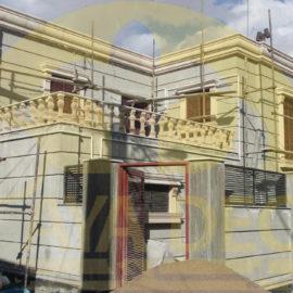 بازسازی ساختمان با نمای عایق و ابزارهای دکوراتیو