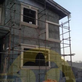 قاب دور پنجره دکوراتیو نما ساختمان در دماوند